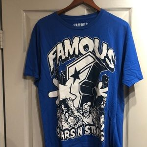 Famous Stars and Straps Monster Graphic Tee Size L